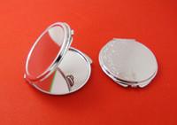metal compact mirror - MM Blank Compact Mirror DIY Portable Metal cosmetic mirror Silver