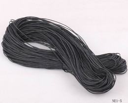 Wholesale NE1 Blacks M Bundle mm Waxed Waxen Cotton Cord Wire Thread Beading String Jewelry DIY Round Jewelry Cord Necklace DIY Crafts