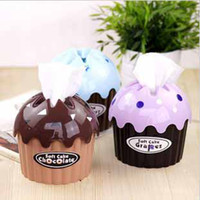Wholesale Creative Pumping BOX Tissue Soft Cake Box Towel Napkin Paper Holder Case gifts