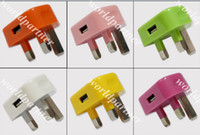 Universal bb bank - Colorful AC Wall Charger Power Adapter USB UK Plug for Apple iphone G GS S Samsung Galaxy S3 S4 I9500 Note N7100 BB Z10 HTC