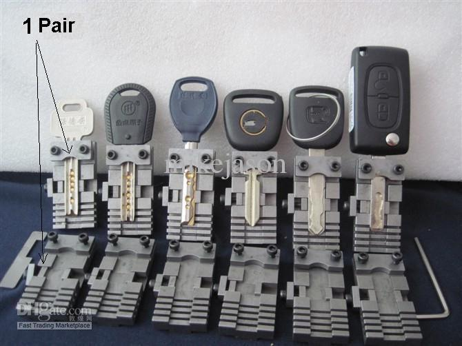 Universal Key Cutting Fixture For Vertical Key Cutting