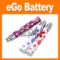 Wholesale Printing Battery Blue amp White Porcelain for eGo Electronic Cigarette mAh Battery for CE4 CE5 CE6 e cig Cheap Prices
