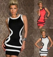 Wholesale 2013 Trims tank Dress Ball Party Summer Disco Wear Bodycon
