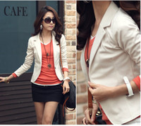 Women Waist_Length Cotton 2013 Autumn Women One Button Tailored Blazer Femiculine Causal Slim Fit Jacket Five Colors M-XXL