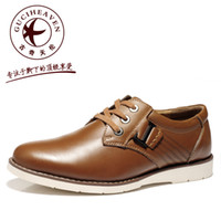 Wholesale New classic Men s casual shoes skate tie spring summer Punk fashion designer Genuine leather shoes soft Italian cols