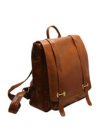 Wholesale Deep Brown Cow Leather Women s Backpack u7 Q2w