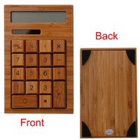 Wholesale Hot Selling New Mini LCD Display Bamboo Solar Calculator With Calendar And Alarm clock Function