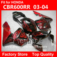 Wholesale Free gifts injection fairing kit for Honda CBR600RR CBR RR F5 CBR RR fairings G8d new red flames in black motorcycle