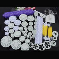 bakeware sets - 18 sets plunger Cutter Embosser Fondant Flower Cake Decorating Sugarcraft tool Bakeware Moulds