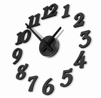 Wholesale Personalized clock diy stereo digital clock wall clock short pointer Design Wall clock decor Room