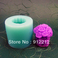 Wholesale DIY Bouquet Silicone Soap Molds Mould For Soap Candle Candy Jelly Cake Craft cutter handmade soap moulds