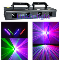 Wholesale DHL RGBP mW Four Tunnel Lens Four Head DMX512 DJ Stage Laser Lighting Disco beam show Red Green blue Purple mW enhanced version