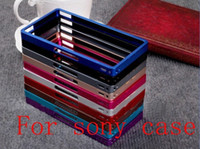 Cheap FREE SHIPPING metal frame aluminum bumper case for sony Xperia Z L36H case with retail packaging