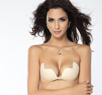 Spandex adhesive lift bra - Push Up LIFT Self Adhesive Silicone Closure Backless Strapless Invisible Bra New