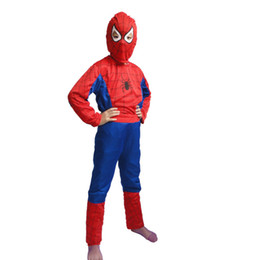 Wholesale Hot Halloween Spider Man Spider Man Suit Clothes Apparel Spiderman Costume Children Kids Boys New mascot Free Shiping