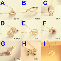 Wholesale 50PCS Clavicle Necklace Sweater Chain Skull Angel Wishing Cross Peace Mischa Barton Jewelry