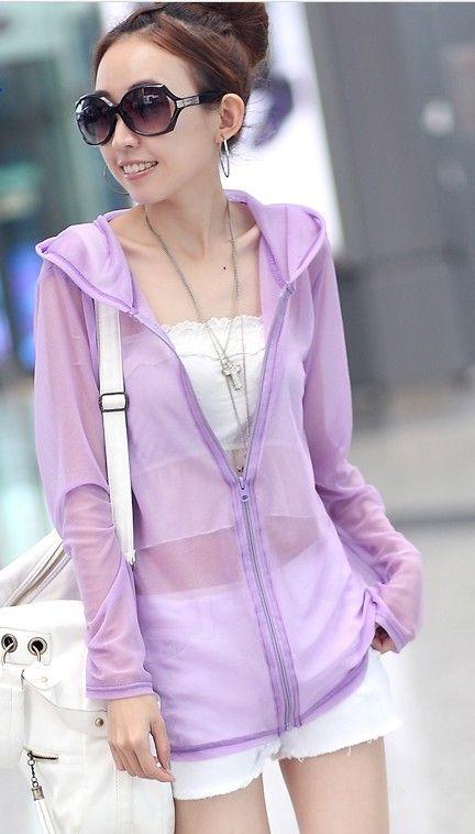 Hot 8 Colors Sun Protection Clothing Women's Jackets Fiber Sunscreen