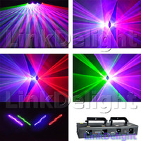 Wholesale New High Bright mW Lens Four Tunnel Head RGBP DMX Channels DJ Party Disco Club Bar Lighting Stage Effect Laser Lighting