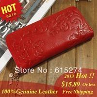 Wholesale HOT New Fashion Brand Designer Lady Women Long Wallet Purse HandbagGenuine
