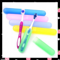 Wholesale 30PCS Travel Toothbrush Storage Box Tour Traveling Journey High Quality Frosted Tooth Brush Case
