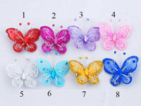Wholesale Butterfly Wedding Hair clip Barrette Bridal Hair Accessories Flower girl s Barrette