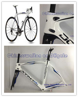Wholesale 2013 Bianco Blue pinarello dogma THINK carbon fiber road bike frame bicycle cycling race by EMS sell complete bike