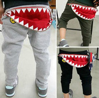 Wholesale Fedex Spring new arrival child large all match trousers casual pants children s big mouth pants