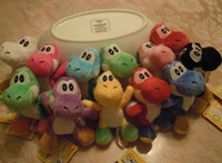 Wholesale 20pcs Soft Plush Super Mario Bros Anime quot Keychain yoshi keychain plush colors
