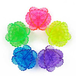 Wholesale Colorful transparent strengthen washing machine agitation efforts to prevent clothes winding laundry ball