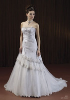 2010 wedding dresses - Pnina Tornai Ball Gown Wedding Dresses Sweetheart Satin Jobridal Custom Made