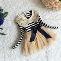 Wholesale Long Pajama Dress - baby girl kids long sleeve sequin dress stripe dress cotton dress tulle tutu petti dress fluffy dress big ribbon bow pajama PJ'S costumes 4
