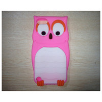Wholesale Cartoon style Soft Silicon Stereo OWL Case Cover for iPod Touch Skin Protector DHL FeDex