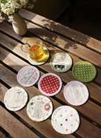 Wholesale Idyllic small fresh cotton cloth coasters are only different for each round pad