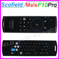 Wholesale 2 GHz Air Mouse MELE F10 PRO Built in lithium battery Wireless Keyboard Intelligent Voice IR Remote Control for Universal PC TV