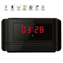 720P HD Multifunctional Alarm Clock & Motion Detection Hidden DVR - Black