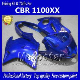 100% fit injection Fairings For HONDA CBR1100 CBR1100XX CBR 1100XX 1997-2003 glossy blue motorcycl fairing LL26