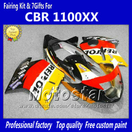 Injection OEM Fairings kit For HONDA CBR1100XX 1997-2003 CBR 1100XX yellow black orange Repsol motorcycle fairing LL31