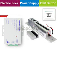 Wholesale Electronic Electric Magnetic Bolt Door Lock V Power Supply Worldwide Usage Exit Button for CHUANGO CG G5 Access Control By Post
