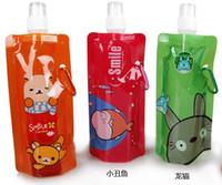 animal water bottle - New Animal Patterns Cartoon Bottles Travel Anti bottle Foldable Water Bottle ml