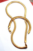 Wholesale Men Jewelry K Yellow Gold Herringbone Necklace Bracelet Set Snake Chain real gold not solid not money