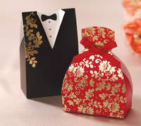 Wholesale hot selling classic devise New Wedding Dress Favor Boxes Bomboniere Candy Boxes Personalized wedding Gifts Pairs