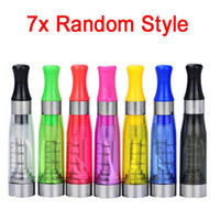 al por mayor e cigarette wicks-CE4 atomizador eGo Clearomizer 2.4ohm 1,6 ml tanque de vapor del cigarrillo electrónico para la batería de la e-cig 8 colores 4 mecha envío CE4 + CE5 DHL