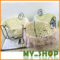 Wholesale Swing fruit baskets handmade knitting Storage Basket natural white rattan storage basket woven baskets