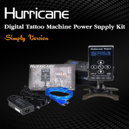 Wholesale Hurricane Power HP Black Dual Digital LCD Tattoo Power Supply Tattoo Power Unit Tattoo Power Box New Version Touch Screen Top Quality DHL