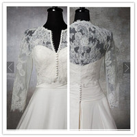 Jacket Tulle Elbow Corded Chantilly Lace Stretch Tulle 3 4 Long Sleeves Front Botton Enclosure Wedding dress Jacket
