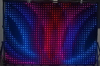 RGB active vision - DJ Stage Background P7 M M leds LED Video Curtain With PC Controller For DJ Wedding Backdrops LED Vision Curtain