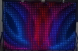 Wholesale DJ Stage Background P7 M M leds LED Video Curtain With PC Controller For DJ Wedding Backdrops LED Vision Curtain
