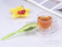 Wholesale factory price pc tea time High quaility easy to use New Tadpole Spoon Teaspoon Tea Strainer Infuser Filter bar tool J