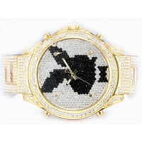 Wholesale 2013 New products Fashion Designer Quartz Ladies Watch Classic Five Time Zone Full Gold and Diamond Playboy