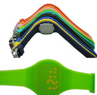 Unisex cheap digital watches - Round Touch Screen Led Watch Plastic Cheap Watch Digital Rubber Men Lady Wrist Watch Ultra thin Fashion Sport Watch edison2011